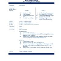 Training Session Agenda Q3