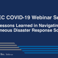 NETEC COVID-19 Webinar Series (01/13/21)/Online Course: Lessons Learned in Navigating Simultaneous Disaster Response Scenarios