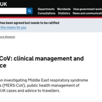 MERS-CoV: Clinical Management and Guidance
