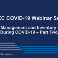 NETEC COVID-19 Webinar Series (8/07/20)/Online Course: Supply Management & Inventory Control – Part 2