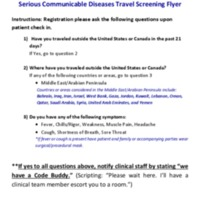 Signage-Travel screening flyer (8801)