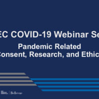 NETEC COVID-19 Webinar Series (11/20/20)/Online Course: Pandemic Related Consent, Research and Ethics