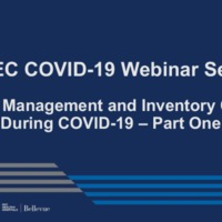 NETEC COVID-19 Webinar Series (8/05/20)/Online Course: Supply Management & Inventory Control – Part 1