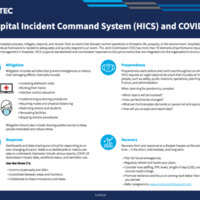 Hospital Incident Command System (HICS) and COVID-19