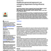Healthcare personnel exposure in an emergency department during influenza season