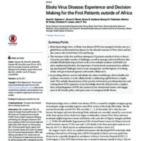 Ebola Virus Disease: Experience and Decision Making for the First Patients outside of Africa