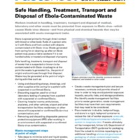 Safe Handling, Treatment, Transport and Disposal of Ebola-Contaminated Waste