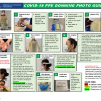 PPE Donning + Doffing with extended use and re-use instructions Photo Guide