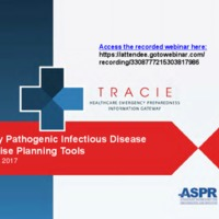 Highly pathogenic infectious disease exercises webinar, 3-7-2017