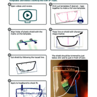 COVID-19: General PPE Guidance: Face shield trimming