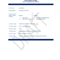 Training Session Agenda Q4