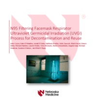 N95 Filtering Facemask Respirator Ultraviolet Germicidal Irradiation (UVGI) Process for Decontamination and Reuse