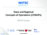 NETEC State and Regional CONOPs