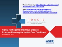 Highly Pathogenic Infectious Disease Exercise Planning for Health Care Coalitions