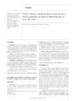 Knowledge and attitudes of healthcare workers towards a suspect case of Ebola virus disease