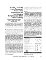 PDF of the article: Virus Transfer from Personal Protective Equipment to Healthcare Employees' Skin and Clothing