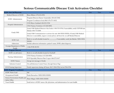 Activation Checklist Example 2