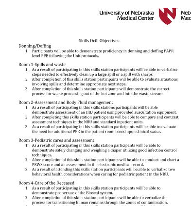 Skills Drill: Objectives