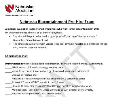 Pre-Hire Exam Draft