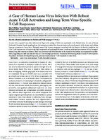 A Case of Human Lassa Virus Infection With Robust Acute T-Cell Activation and Long-Term Virus-Specific T-Cell Responses