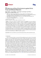 Effectiveness of Four Disinfectants against Ebola Virus on Different Materials