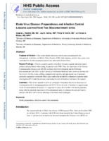 Ebola virus disease: preparedness and infection control lessons learned from two biocontainment units