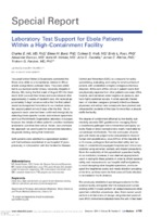 Laboratory test support for Ebola patients within a high-containment facility
