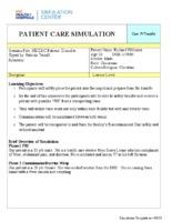 Patient Care Simulation: Case: Patient Transfer